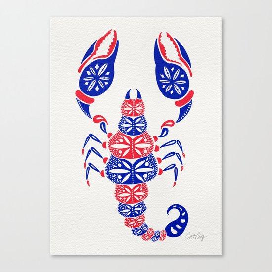 Patriotic Scorpion Canvas Print