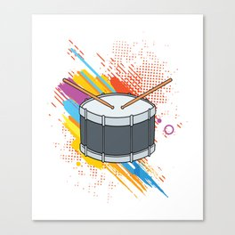 Drumline Drums Drumming Marching Band Drummer Gift Canvas Print