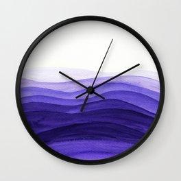 Ultra violet waves Wall Clock