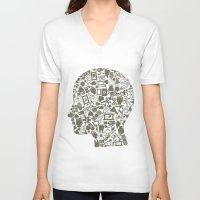 medicine V-neck T-shirts featuring Head medicine by aleksander1
