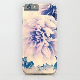 Delicate Beauty (Vintage Blue Lavender Dahlias) iPhone Case