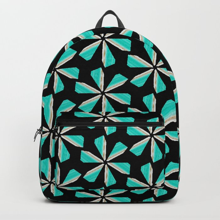 floral geometrical pattern Backpack