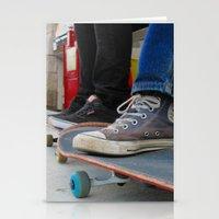 skateboard Stationery Cards featuring Skateboard by Mechanical Kayla