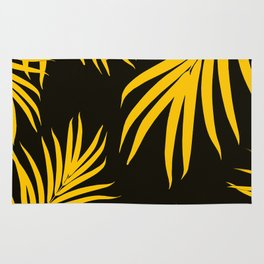Palm Leaves Pattern Yellow Vibes #1 #tropical #decor #art #society6 Rug