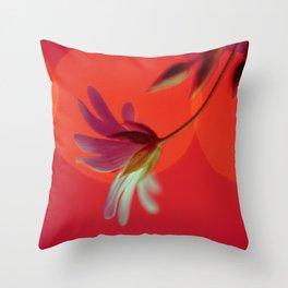 Tangerine Stitch Throw Pillow