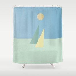 Minimalist sails Shower Curtain
