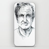 robin williams iPhone & iPod Skins featuring Robin Williams by Andrew Brennan