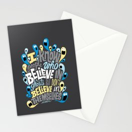 People Who Believe in Ghosts Stationery Cards