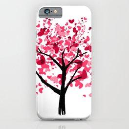 2HW-heart tree iPhone Case