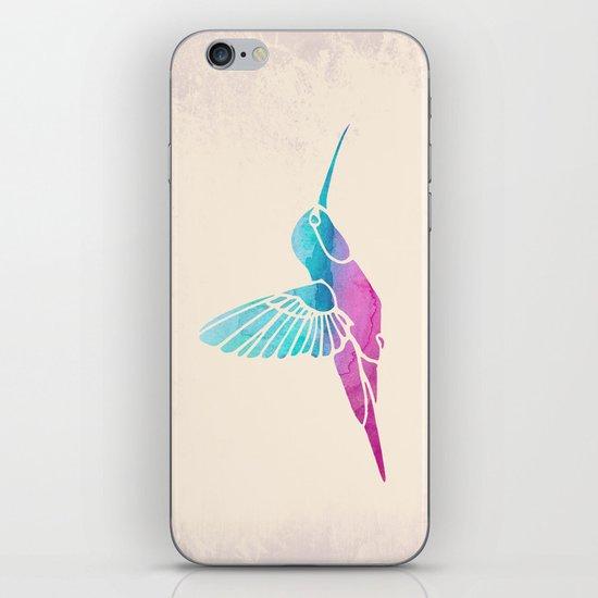 Watercolor Hummingbird iPhone & iPod Skin