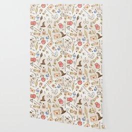 Wizarding Pattern Wallpaper