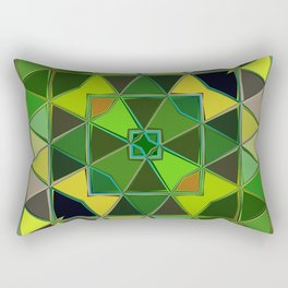 yellow green square Rectangular Pillow