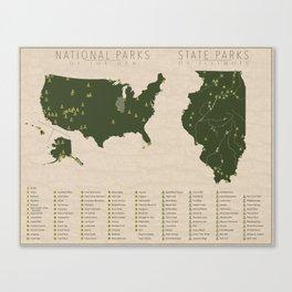 US National Parks - Illinois Canvas Print