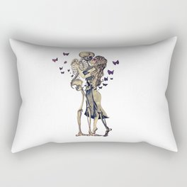 Always Kiss Goodnight Skeletons Rectangular Pillow