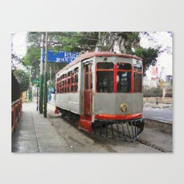 Old tramways VII Canvas Print