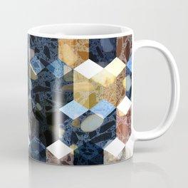 Art Deco Terrazzo Cube Pattern #abstractart #pattern Coffee Mug