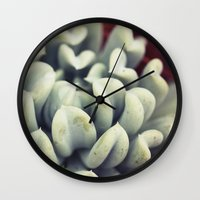 succulent Wall Clocks featuring Succulent by BURNEDINTOMYHE∆RT♥