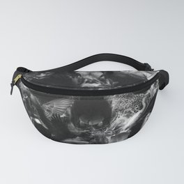 Kingdom Skull B&W Fanny Pack