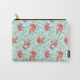Goldfish, Mask and Magnolia Pattern Carry-All Pouch