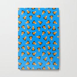 traffic cones on blue Metal Print