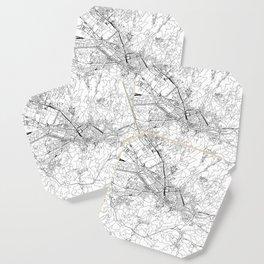 Florence White Map Coaster