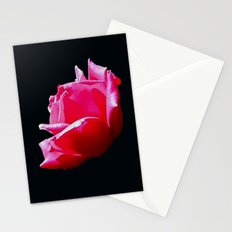 rose on black Stationery Cards
