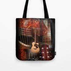 The Acoustic Guitar  Tote Bag