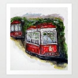 Abandoned Trolley Art Print