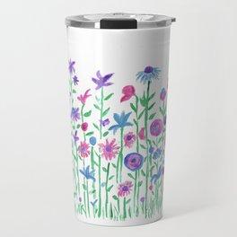 Cheerful spring flowers watercolor Travel Mug