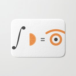 orange integral Bath Mat