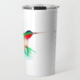 hummingbird watercolour Travel Mug