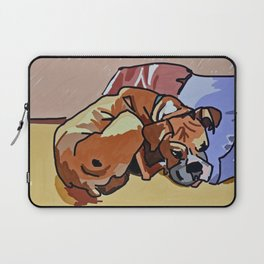 Abby Rests Boxer Dog Portrait Laptop Sleeve