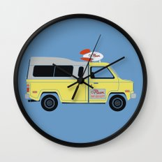 Galactic Pizza Van Wall Clock