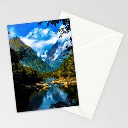 Mitre Peak - Milford Sound, New Zealand Stationery Cards