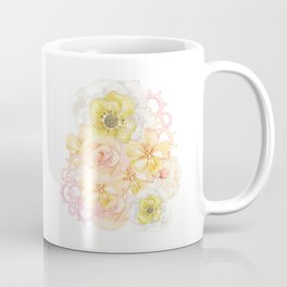 Yellow Floral Watercolor Coffee Mug