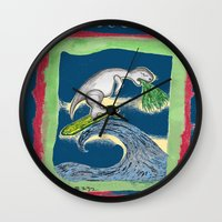 charlie Wall Clocks featuring Charlie by Huiskat