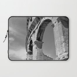 arena amphitheatre pula croatia ancient high black white Laptop Sleeve