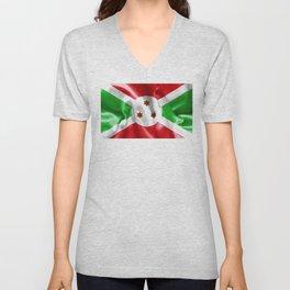 Burundi Flag Unisex V-Neck