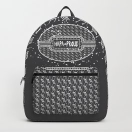 Hapa & Proud - Multicultural - Happa - Eurasian - Black & White Backpack