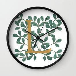 Forest Letter L Lite 2020 Wall Clock
