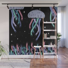 Space jellyfish Wall Mural