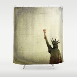 Understanding Liberty  Shower Curtain
