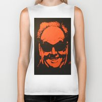 jack nicholson Biker Tanks featuring Jack by Ty McKie Creations