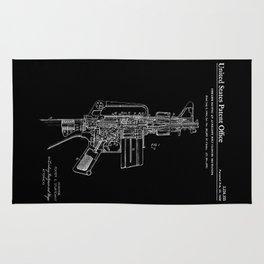 vAR-15 Semi-Automatic Rifle Patent - Black Rug