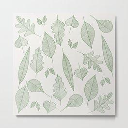 Falling Leaves Pattern I Light Metal Print