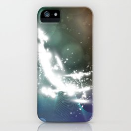 abstract background with highlights iPhone Case