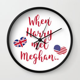 When Harry met Meghan | Fun Royal Wedding Wall Clock