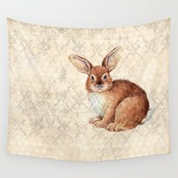 rabbit Wall Tapestries featuring Rabbit by Patrizia Ambrosini