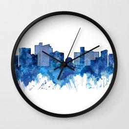 Reno Nevada Skyline Blue Wall Clock