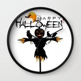 Scarecrow Pumpkin Halloween Shirt Classic T-Shirt Wall Clock